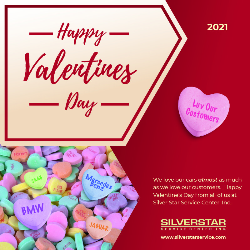 Happy Valentines Day from Silver Star Service Center, Inc.