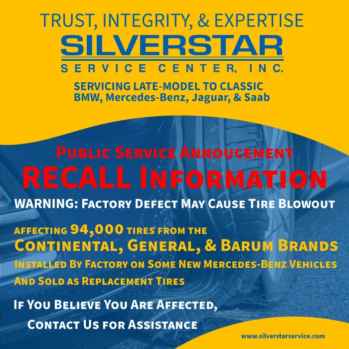Continental Tire Recall