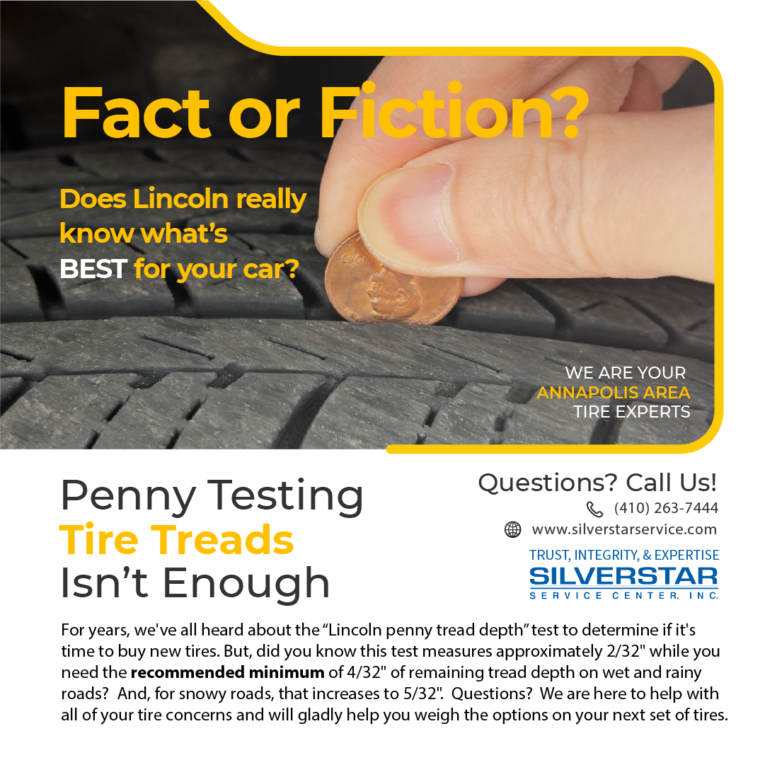 Check Your Tire Tread With A Penny?